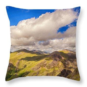 Snowdonia Throw Pillow by Jane Rix