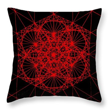 Snowflake Shape Comes From Frequency And Mass Throw Pillow by Jason Padgett