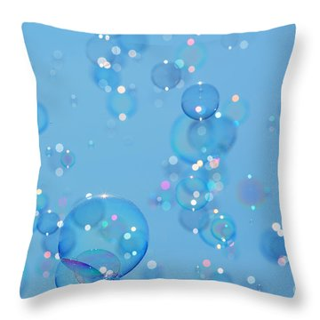 Soap Bubbles Throw Pillow by Jane Rix