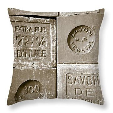 Soaps Throw Pillow by Frank Tschakert