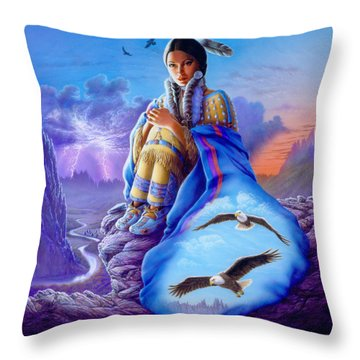 Soaring Spirit Throw Pillow by Andrew Farley