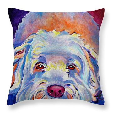 Soft Coated Wheaten Terrier - Guinness Throw Pillow by Alicia VanNoy Call