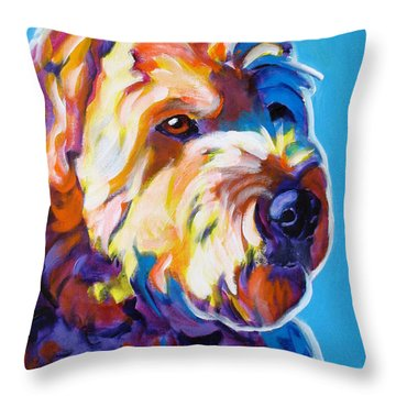 Soft Coated Wheaten Terrier - Max Throw Pillow by Alicia VanNoy Call