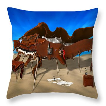 Soft Grand Piano Throw Pillow by Mike McGlothlen