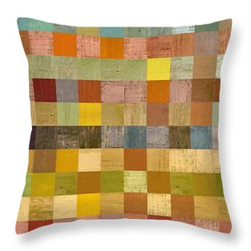 Soft Palette Rustic Wood Series Collage Lll Throw Pillow by Michelle Calkins