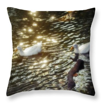 Soft White Throw Pillow by Brian Wallace
