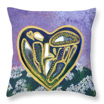 Softened Heart Best Reflections Energy Collection Throw Pillow by Catt Kyriacou