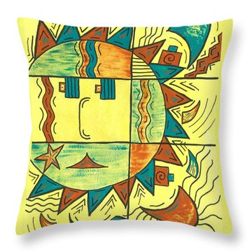 Solar Southwest Throw Pillow by Susie WEBER