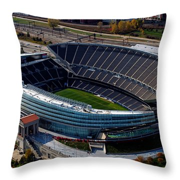 Soldier Field Chicago Sports 06 Throw Pillow by Thomas Woolworth