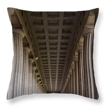 Soldier Field Colonnade Throw Pillow by Steve Gadomski