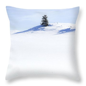 Solitary Throw Pillow by Theresa Tahara