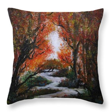Solitude Throw Pillow by Erik Coryell
