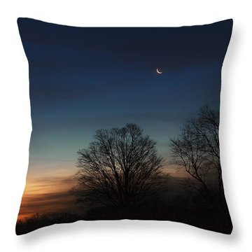 Solstice Moon Throw Pillow by Bill Wakeley