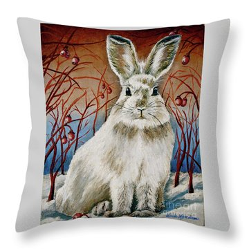 Some Bunny Is Charming Throw Pillow by Linda Simon