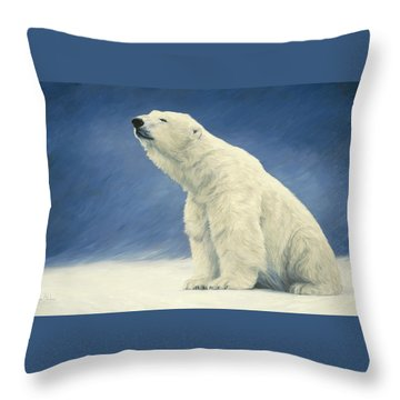 Something In The Air Throw Pillow by Lucie Bilodeau