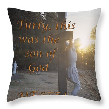 Son Of God Throw Pillow by Sharon Elliott