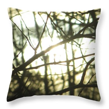 Soothing Force Throw Pillow by Sonali Gangane