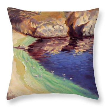 Soulful Sanctuary Point Lobos Throw Pillow by Karin  Leonard