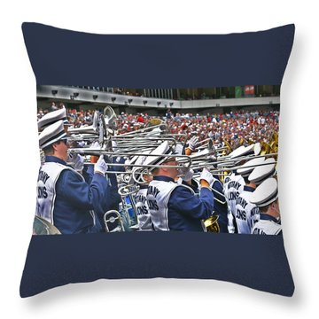 Sounds Of College Football Throw Pillow by Tom Gari Gallery-Three-Photography