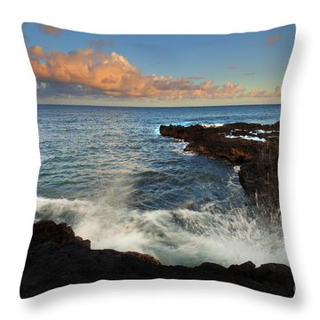 South Shore Spray Throw Pillow by Mike  Dawson