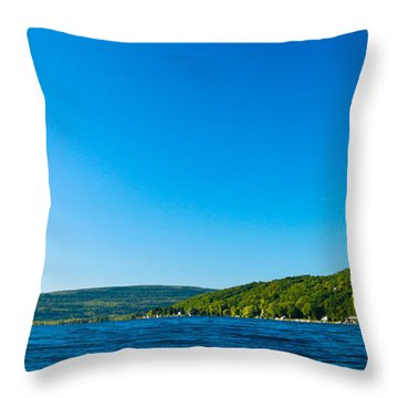 South View Of Canandaigua Lake Throw Pillow by Steve Clough