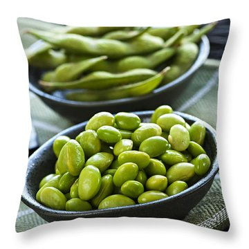 Soy Beans  Throw Pillow by Elena Elisseeva