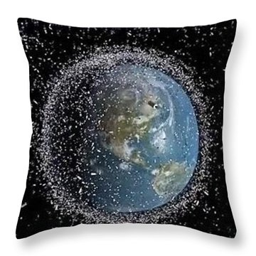 Throw Pillow featuring the photograph Space Junk by Science Source