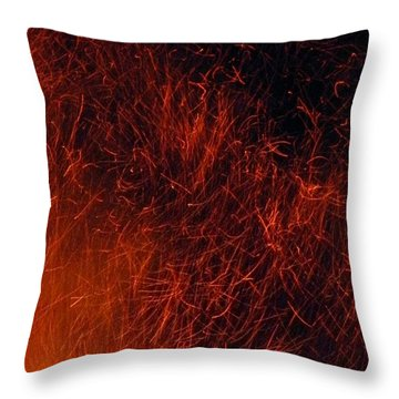 Sparks Throw Pillow by Chris Berry