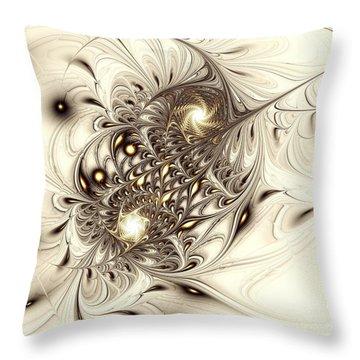 Sparrow Throw Pillow by Anastasiya Malakhova