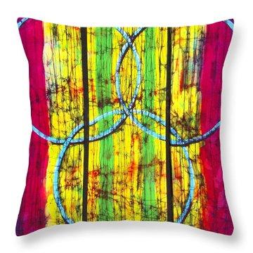 Spectrum Throw Pillow by Kay Shaffer