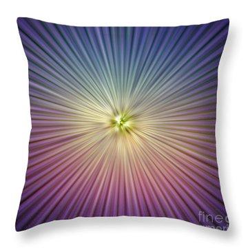Speed Colors Throw Pillow by Atiketta Sangasaeng