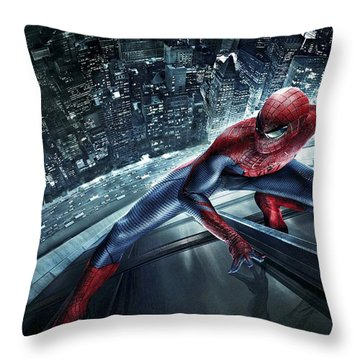 Spider Man 210 Throw Pillow by Movie Poster Prints