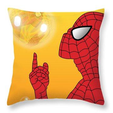 Spiderman 3 Throw Pillow by Mark Ashkenazi