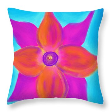 Spiral Flower Throw Pillow by Daina White