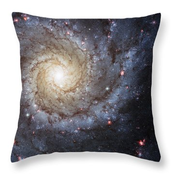 Spiral Galaxy M74 Throw Pillow by Adam Romanowicz
