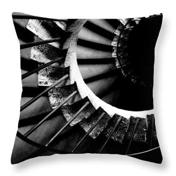 Spiral Staircase Throw Pillow by Fabrizio Troiani
