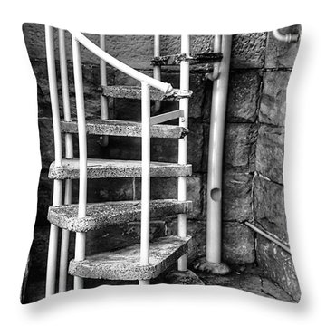 Spiral Steps - Old Sandstone Church Throw Pillow by Kaye Menner