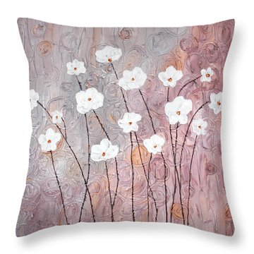 Spiral Whites Throw Pillow by Home Art