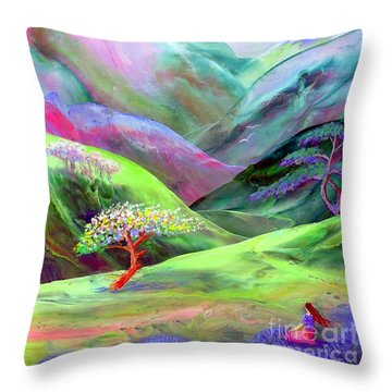 Spirit Of Spring Throw Pillow by Jane Small