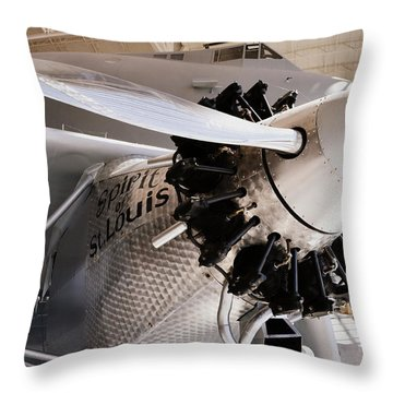 Spirit Of St. Louis Throw Pillow by Michelle Calkins