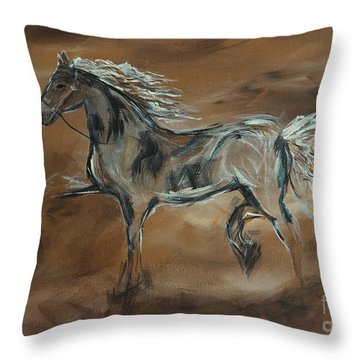 Spirited Throw Pillow by Leslie Allen