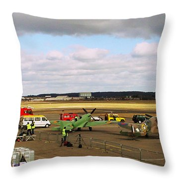 Spitfire's Galore Throw Pillow by Terri Waters