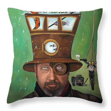 Splash Throw Pillow by Leah Saulnier The Painting Maniac
