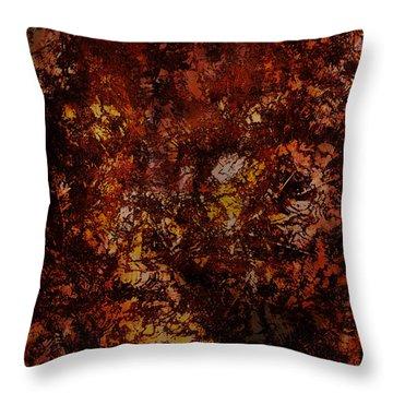 Splattered  Throw Pillow by James Barnes