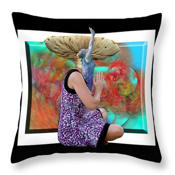 Spore Throw Pillow by Betsy Knapp