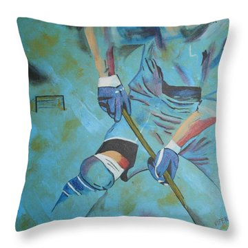 Sports Hockey-2 Throw Pillow by Vitor Fernandes VIFER