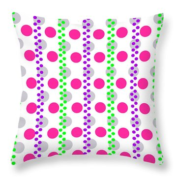 Spotty Stripe Throw Pillow by Louisa Hereford