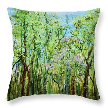 Spring Arpeggio Throw Pillow by Regina Valluzzi