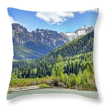 Spring At Silver Jack Throw Pillow by Bob Hislop