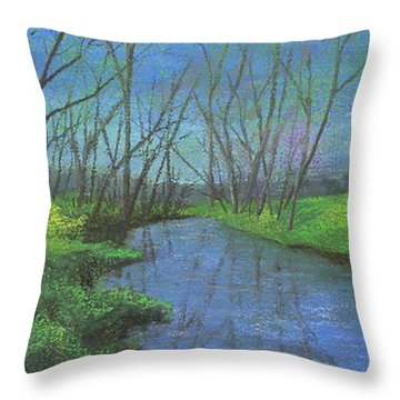 Spring Awakening II Throw Pillow by Garry McMichael